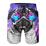 I Like Exercise Galaxy Pug with Cool Glass Men's Boardshorts Printed Quick Dry Board Shorts Medium