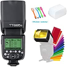 Godox Thinklite TT685S TTL Camera Flash Speedlite High Speed Sync 1/8000s GN60 Light Compatible for Sony DSLR Cameras + CONXTRUE USB LED