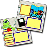 #10: Back to The Books - School - Premade Scrapbook Pages - EZ Layout 3392