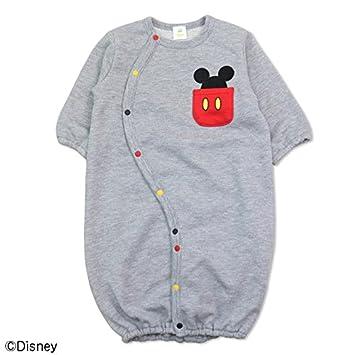 3fa03c0a359b9 ミッキーマウス 長袖 ツーウェイオール ベビー 赤ちゃん 兼用ドレス カバーオール 裏毛 男の子 DISNEY 出産祝い