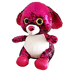 Plush Toy with Reversible Glitter Sequins