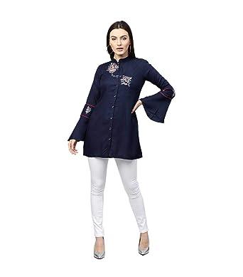bbdf4f90c63 Amazon.com: Indian Designer Top Tunic Dress Stylish Blouse Party wear  Traditional Short Kurti: Clothing