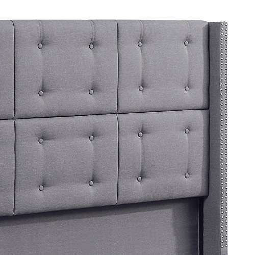 Rosevera Ciosa Upholstered Button Tufted Panel Bed With