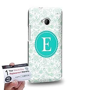 Case88 [HTC One M7] 3D impresa Carcasa/Funda dura para & Tarjeta de garantía - Art Typography Fashion Alphabet E Style