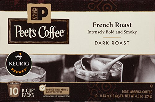 Peet's Coffee, French Roast, Doleful Roast, K-Cup Pack (60 ct.), Single Cup Coffee Pods, Bold Dark Roast Blend of Latin American Coffees, with A Smoky, Flavorful Sting; for All Keurig K-Cup Brewers
