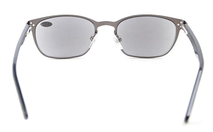 Eyekepper Lettori di occhiali di qualità cerniera a molla tempie lettura Gunmetal +1.75 CfEWYfn