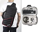 BUBM Game Keyboard Backpack, E-sports PC Game Accessories Travel Carrying Hand Shoulder Bag Case Sleeve for Keyboard, Mouse, Mouse Pad, Headset, Water-resistant and Lightweight, Fit for One-up K8