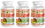 Natural fat burner for women - AFRICAN MANGO EXTRACT (1200Mg) - Mango africano pills - 3 Bottles 180 Capsules