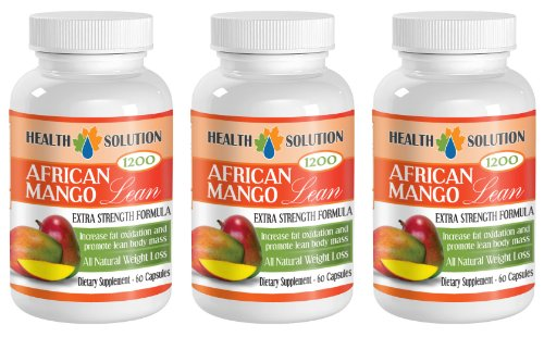 African mango cleanse product - AFRICAN MANGO LEAN Extra strength Formula 1200mg - Cleanse and lean muscle (3 Bottles 180 capsules)