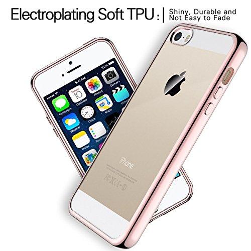 68a06458c4 CinoCase iPhone5S SE 5 ケース クリア シリコン iPhone 5S SE 5 カバー 擦り傷防止&衝撃