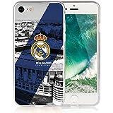 Funda Real Madrid Gel silicona Carcasa + Regalo Protector Cristal Templado para Samsung Galaxy J7 2016