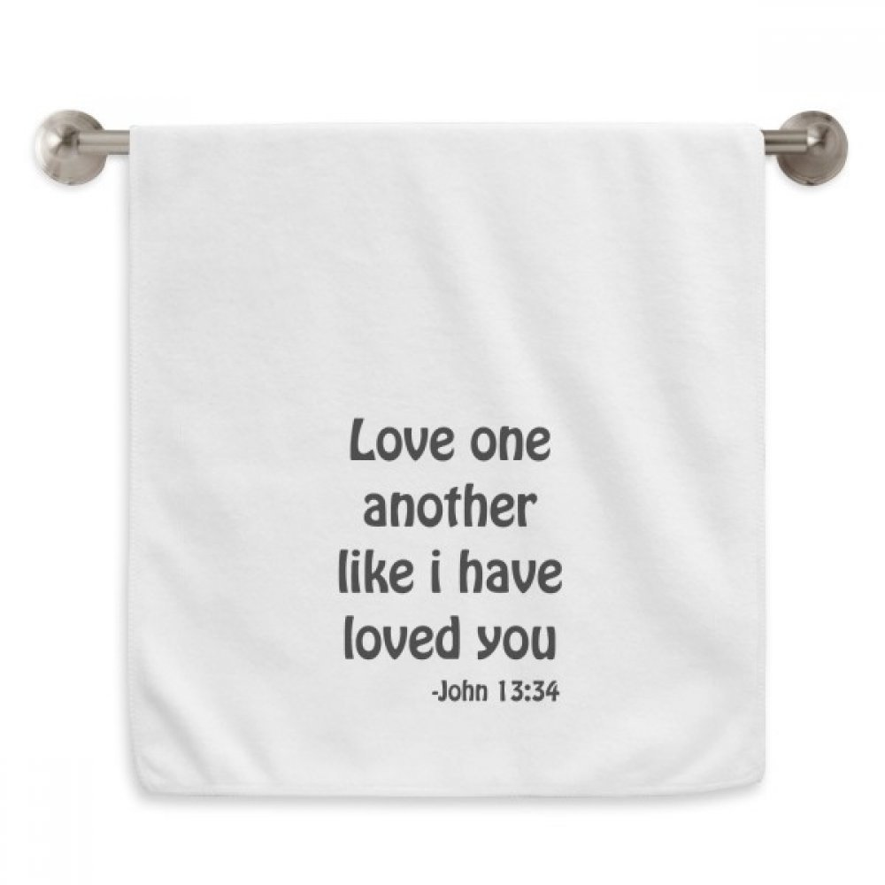 DIYthinker Love One Another Christian Quotes Circlet White Towels Soft Towel Washcloth 13x29 Inch