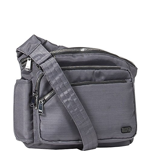 Sidekick Excursion Body Women's Brushed Pouch One Blue Size Cross Brushed Bag Lug Grey qn615xd6