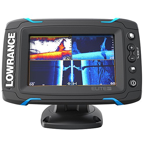 - Lowrance Elite-5 Ti 000-12421-001 Fishfinder Chartplotter with Downscan Xdcr