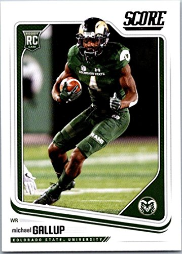 2018 Score #388 Michael Gallup Colorado State Rams Rookie RC Football Card