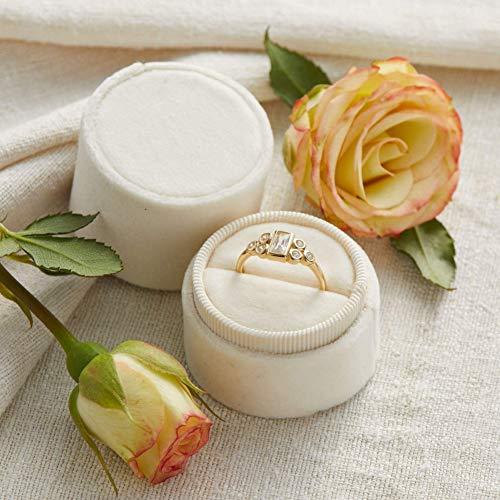 Velvet Ring Box Pearl, Round Shape, Engagement Ring Box, Ring Bearer Box, Wedding Ring Box, Wedding Photo Shoot, Engagement Photo Shoot, Bridal Gift