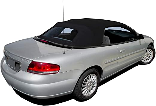 amazon com fits chrysler sebring 1996 2006 convertible top plastic window black sailcloth 1 piece easy install automotive fits chrysler sebring 1996 2006 convertible top plastic window black sailcloth 1 piece easy install