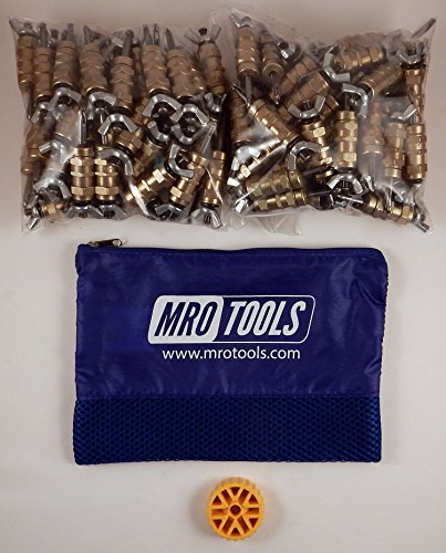 100 3/16 Standard Wing-Nut Cleco Fasteners with HBHT Tool & Bag (KWN1S100-3/16) by MRO Tools Cleco Fasteners