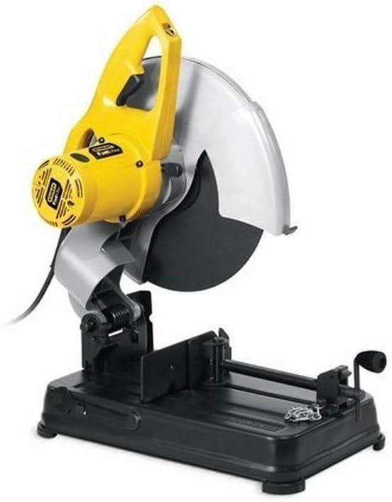 STANLEY FME700-QS - Tronzadora 355mm y 2200W. Mordaza de liberación rápida para la pieza a cortar. Empuñadura ergonómica. Disco abrasivo, llave para cambiar el disco. 4 metros de cable de goma.
