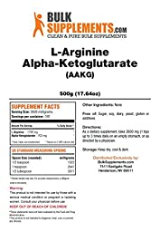 BulkSupplements Pure L-Arginine a-Ketoglutarate (AAKG) Powder (500 grams)