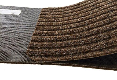Dark Brown Slip Proof Stair Tread : Stair treads collection set of indoor skid slip