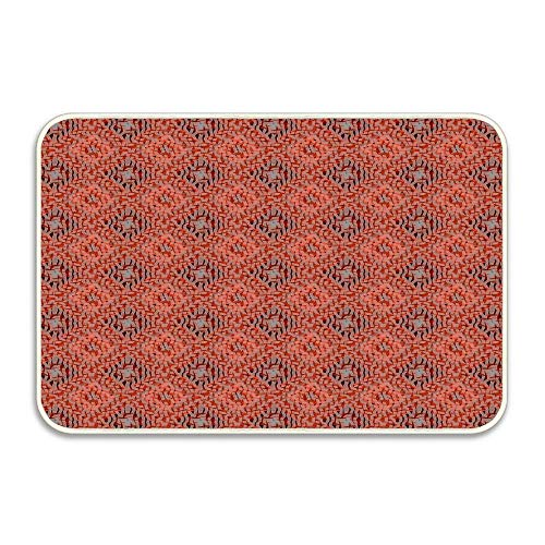 Nick Thoreaufhed Terracotta Clay Red and Grey Mosaic Diamond Weave Harlequin Pattern Entrance Door Mat 16x24 inch Durable Large Heavy Duty Front Outdoor Rug Non-Slip Welcome Doormat for Entry