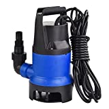 Murtisol 1/2 HP 1980GPH 400W Submersible Water Pump 7500L/H Clean Dirty Water Transfer for Garden Pool Outdoor