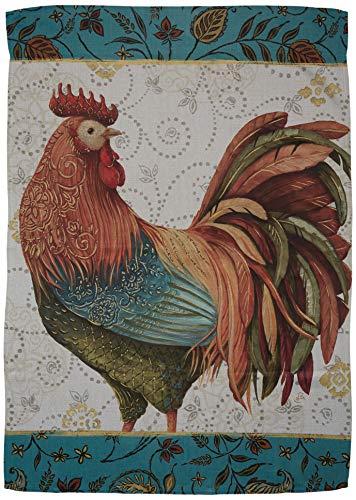 Breeze Decor H110118 Rooster Spice Nature Farm Animals Decorative Vertical House Flag, 28
