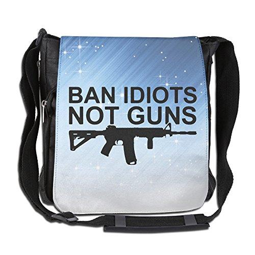 ZheuO Ban Idiots Not Guns Unisex Bag Backpack For Men & Women Teens - Ban Pak