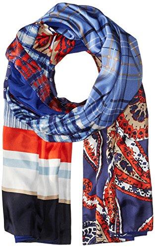 Bcbgmaxazria Women's Patchwork Wrap, Blue Depths, One Size by BCBGMAXAZRIA
