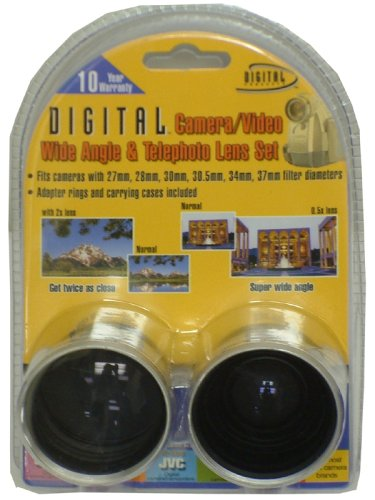 Digital Concepts 37mm TeleandWide Camcorder Lens Kit (KIT1337) by Sakar