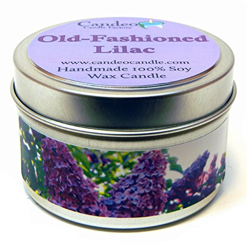 Old-Fashioned Lilac 4oz, Super Scented Soy Candle Tin