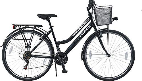 28 Zoll Damen M/ÄDCHEN City Fahrrad Bike Rad CITYFAHRRAD DAMENFAHRRAD CITYRAD DAMENRAD Shimano 21 Gang Fantasia Schwarz Black Lady TYT19-054