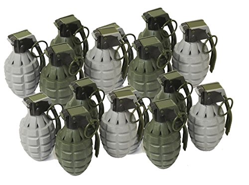 Toy Pineapple Hand Grenades with Sound Effects - 16 Pack - Army Grenade