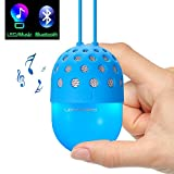 Lightstory Mini Bluetooth Speaker with Colorful LED Light, Perfect Gifts for Kids Boys Girls (Blue)
