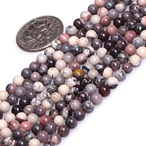 4mm Round Natural Semi Precious Gemstone Brown Porcelain Jasper Beads for Jewelry Making Strand 15