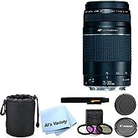 Canon EF 75-300mm f/4-5.6 III USM Telephoto Zoom Lens Bundle- International Model