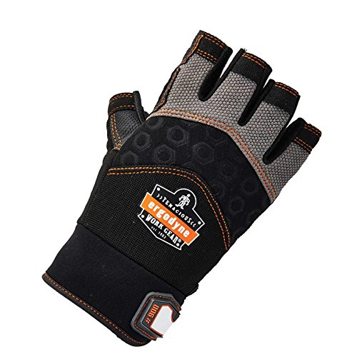 Ergodyne ProFlex 900 Impact Protection Work Gloves, Padded Palm, Half-Finger, X-Large by Ergodyne (Image #1)
