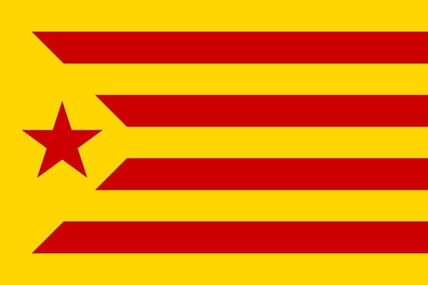MR Bandera de CATALUÑA ESTELADA VERMELLA 90 x 60cm - Bandera CATALANA INDEPENDENTISTA – Catalunya: Amazon.es: Jardín