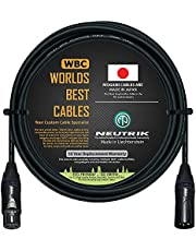 10 Foot - Balanced Microphone Cable CUSTOM MADE By WORLDS BEST CABLES - using Mogami 2549 (Black) wire and Neutrik NC3MXX-B & NC3FXX-B Gold XLR Plugs