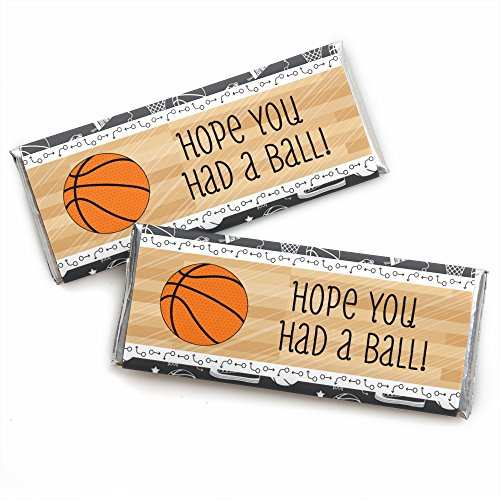 Nothin' But Net - Basketball - Candy Bar Wrappers Birthday Party Favors - Set of 24