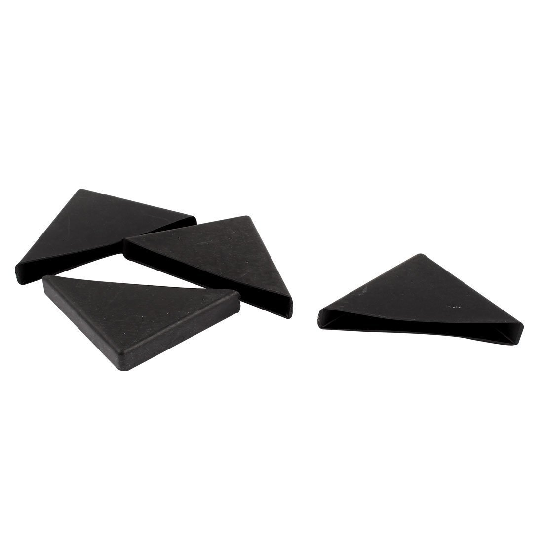 sourcingmap 4 Pcs Triangle Shape Glass Table Couch Corner Protector 10mm x 75mm