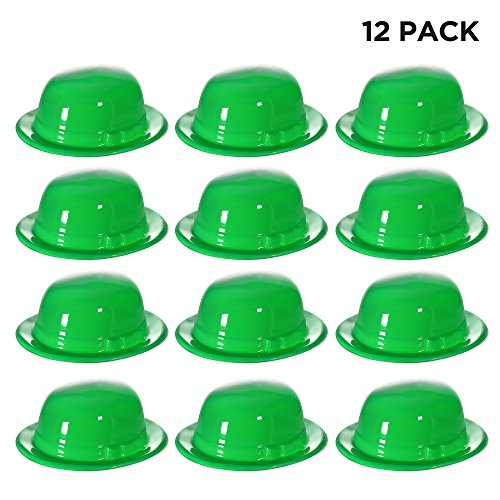 Windy City Novelties Green St. Patricks Day Costume Derby Hats - 12 Pack -