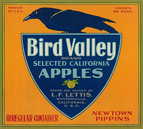 (Bird Valley Apple Crate Label (24x36 SIGNED Print Master Giclee Print w/Certificate of Authenticity - Wall Decor Travel Poster))