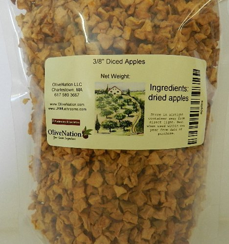 Dried Natural Diced Apple - Naturally Sweet & Delicious Snack - Size of 5 lbs by OliveNation