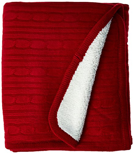 Brielle Cable Throw Sherpa Lining
