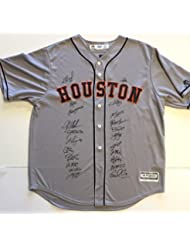 Houston Astros 2017 World Series Champion Team Autographed Jersey. Signed at paid private Autograph Sessions. Signed by 22. TAS COA.