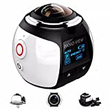OUTERDO Wireless Panoramic Camera 3D VR Action Sports Camera Wifi 16MP HD 30fps Waterproof 230° Large Lens Mini DV Camera 360 Degree HD DVR Recorder