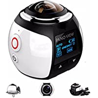 OUTERDO Wireless Panoramic Camera 3D VR Action Sports Camera Wifi 16MP HD 30fps Waterproof 230° Large Lens Mini DV Camera 360 Degree DVR Recorder