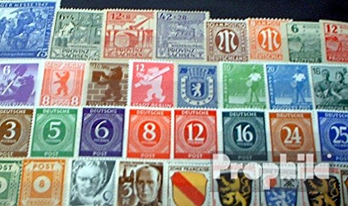 Allied Cast in Germany 50 Different Stamps Zones West +East After The 2. War (Stamps for Collectors)